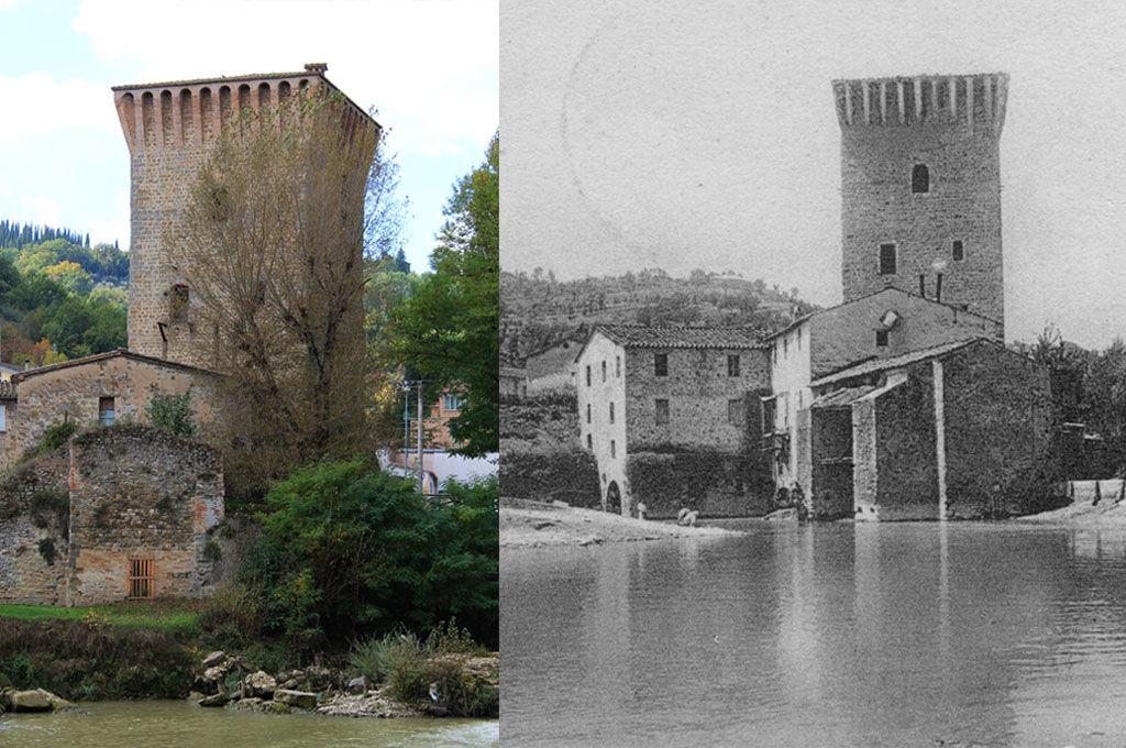 La torre di Pretola ieri e oggi