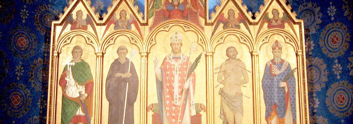 Polittico nella chiesa di San Costanzo