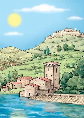 torre di pretola disegno