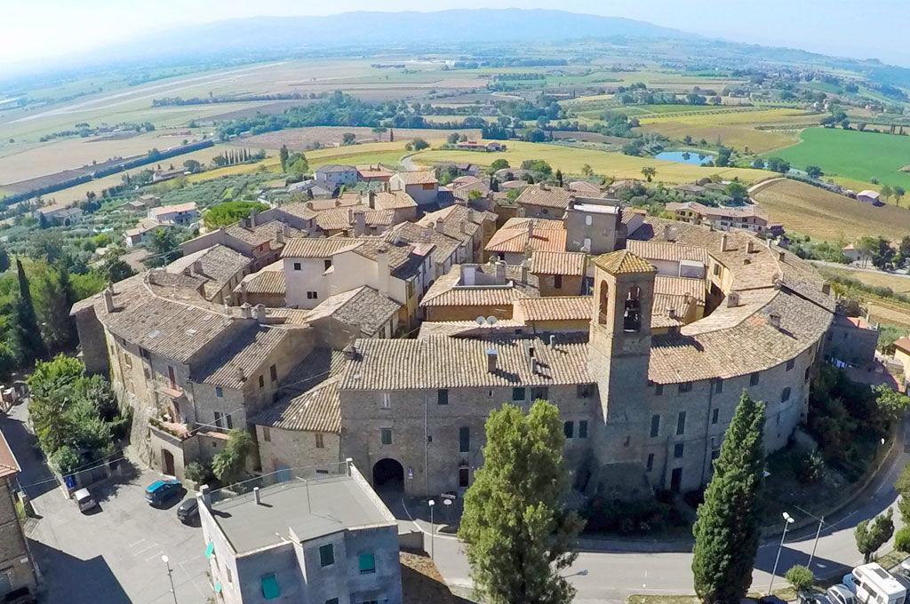 Veduta dall'alto di Ripa Perugia