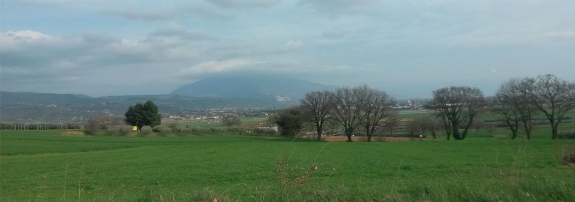 Veduta di Assisi da Sant'Egidio