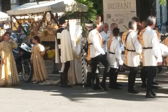 Figuranti del Rione Porta Sole Perugia