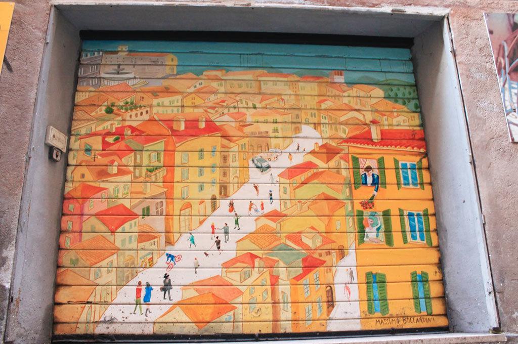 Garage dipinto Via della Viola Perugia