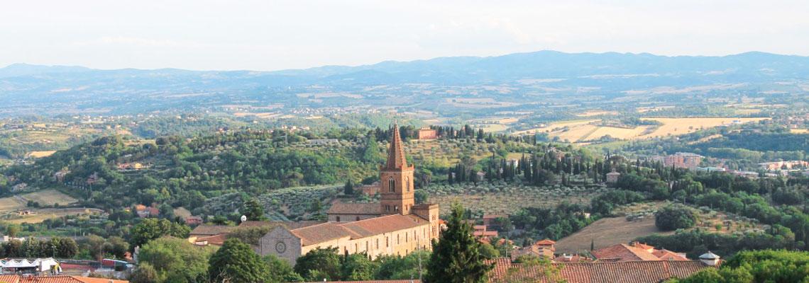Veduta del campanile di Santa Giuliana Perugia