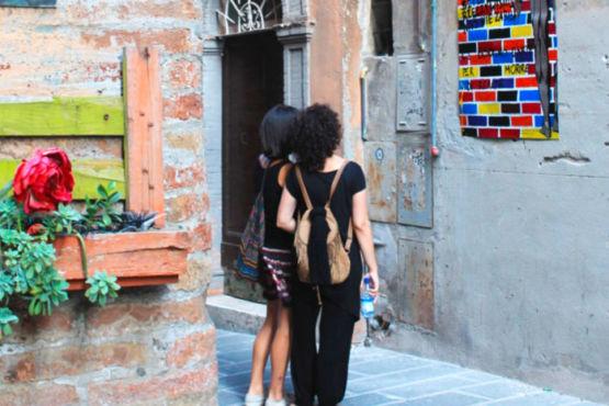 Turisti Via della Viola Perugia