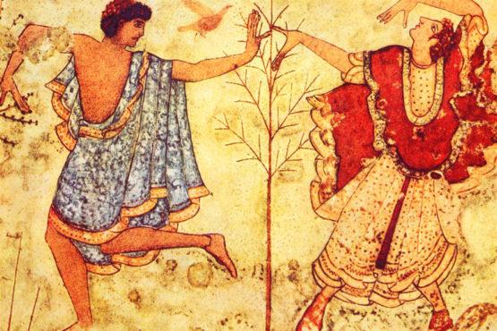 Affresco etrusco presso Necropolii di Tarquinia