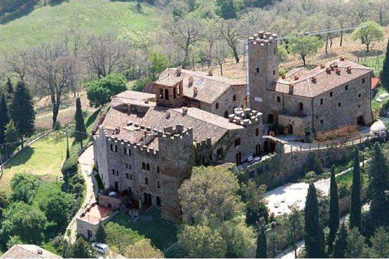 Castello di Giomici dall'alto