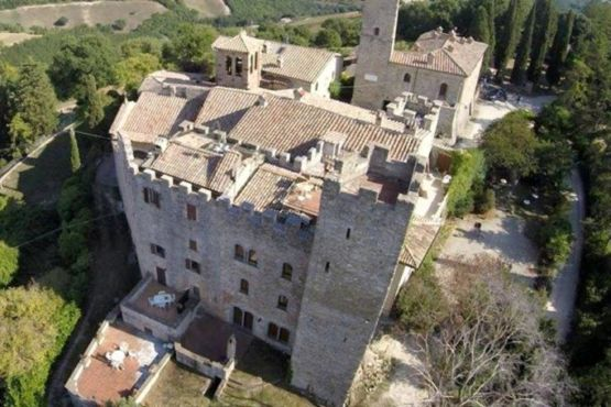 Il castello di Giomici visto dall'alto