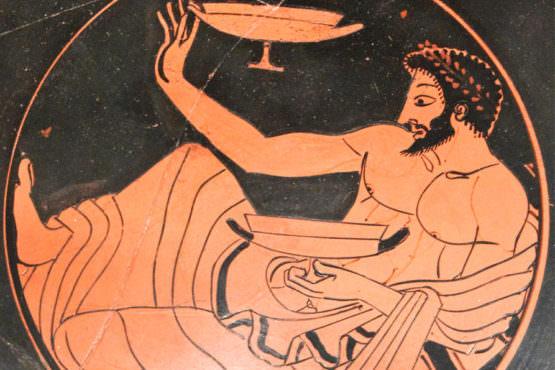 Kottabos - pittura su fondo vaso greco