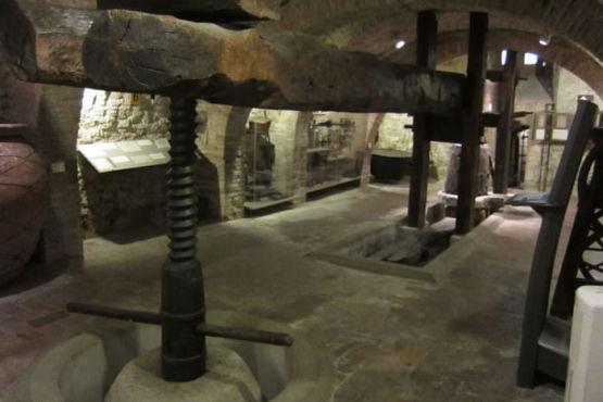 Antico torchio per fare il vino Muvit Torgiano