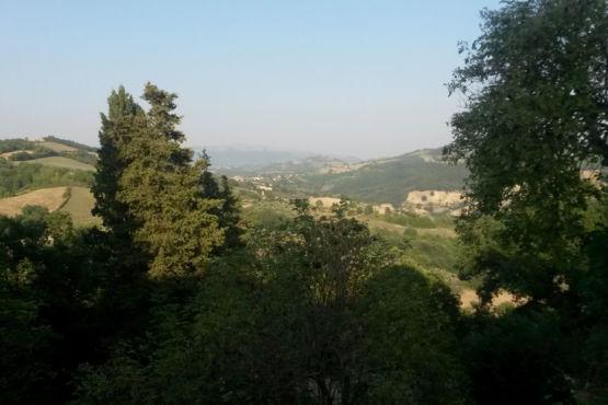 Panorama dal castello di Giomici