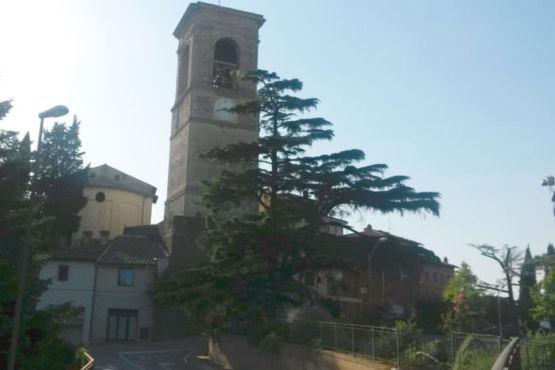 Campanile della chiesa di San Bartolomeo Torgiano
