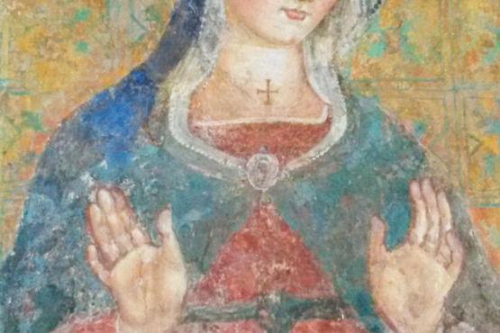 Madonna con croce patente al Tempio di Sant'Angelo Perugia